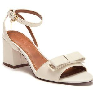 Coach Camille Leather Bow Sandal